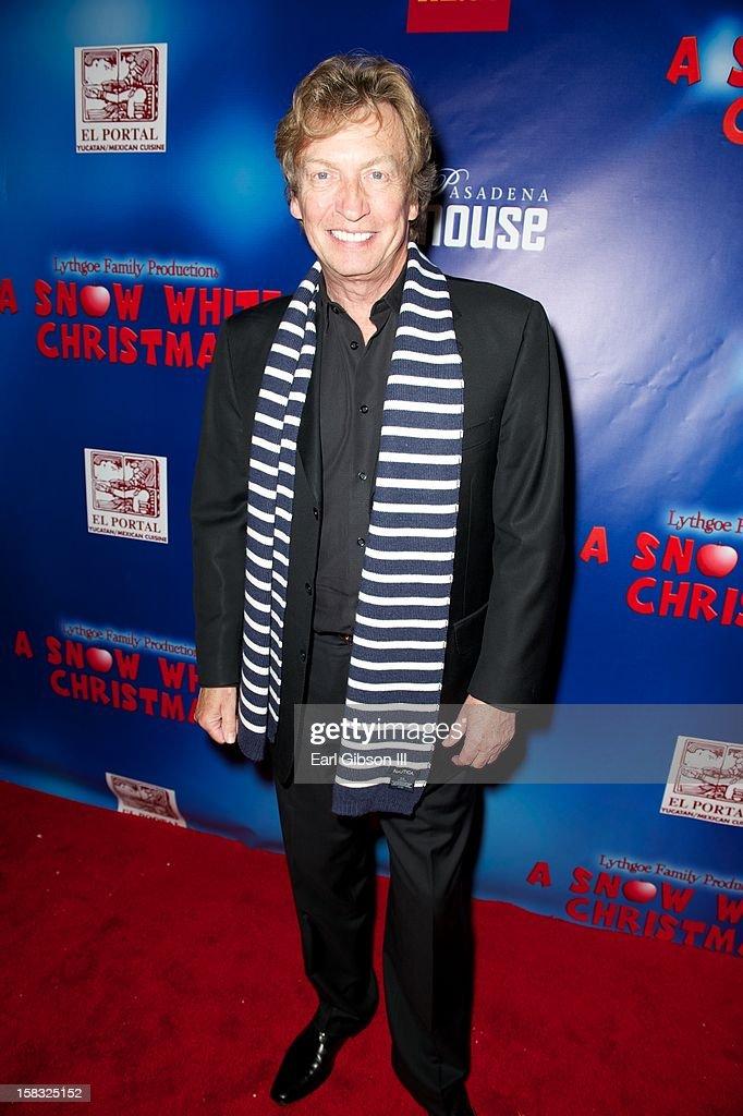 Nigel Lythgoe attends 'A Snow White Christmas' at the Pasadena Playhouse on December 12, 2012 in Pasadena, California.