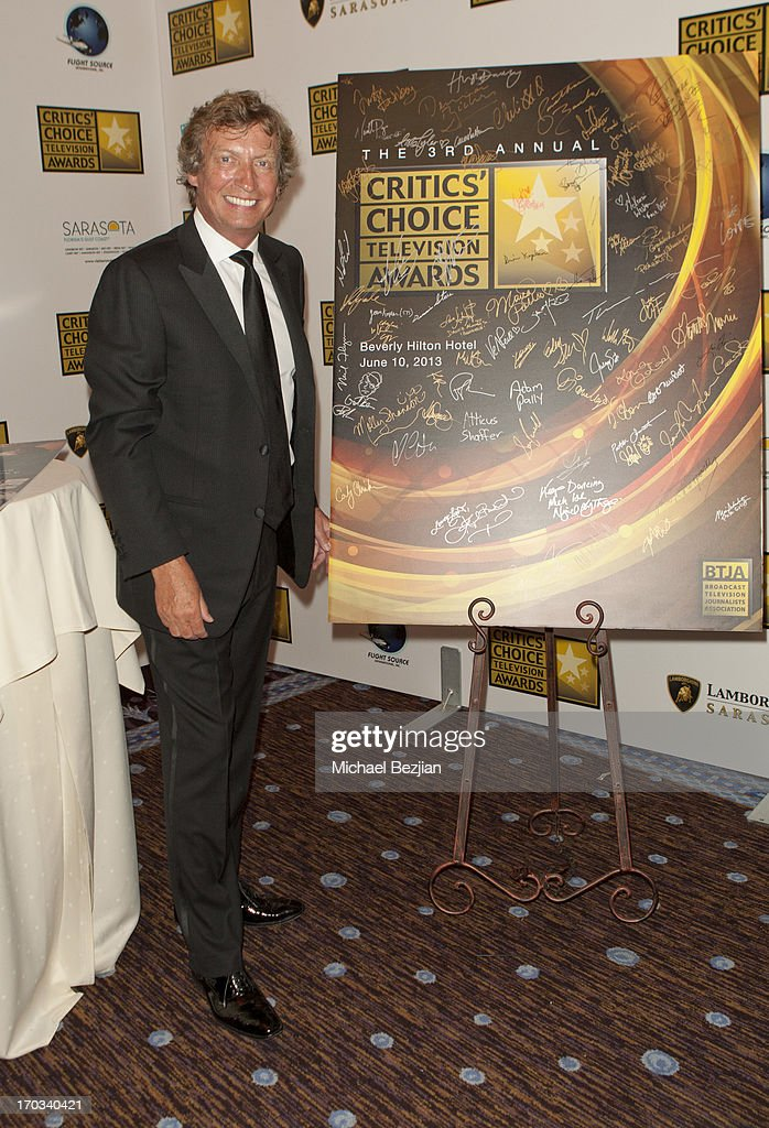 Nigel Lythgoe attends Critics' Choice Television Awards VIP Lounge on June 10, 2013 in Los Angeles, California.