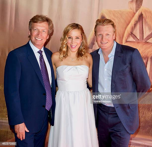 Nigel Lythgoe Becky Baeling Lythgoe and Kris Lythgoe attend the 'Princess and Pirates' singalong concert opening night at Kirk Douglas Theatre on...