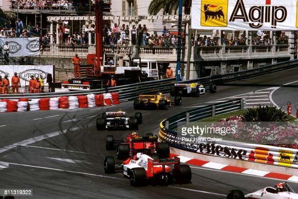 Nigel Mansell Ayrton Senna Nelson Piquet WilliamsHonda FW11B LotusHonda 99T Grand Prix of Monaco Monaco 31 May 1987