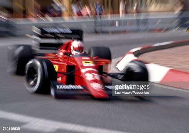 Nigel Mansell of Great Britain in action driving a Ferrari 640 with a Ferrari 035/5 35 V12 engine for Scuderia Ferrari SpA SEFAC during the Monaco...