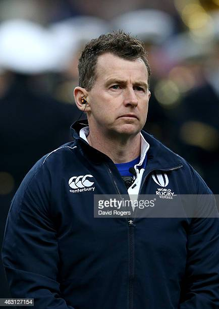 Nigel Owens the referee looks on during the RBS Six Nations match between France and Scotland at Stade de France on February 7 2015 in Paris France