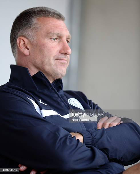 Nigel Pearson manager of Leicester City during the Pre Season Friendly match between Rotherham United and Leicester City at The New York Stadium on...