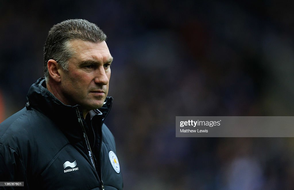 Nigel Pearson, manager of Leicester City looks on during the npower Championship match between Leicester City and Portsmouth at The King Power Stadium on December 31, 2011 in Leicester, England.