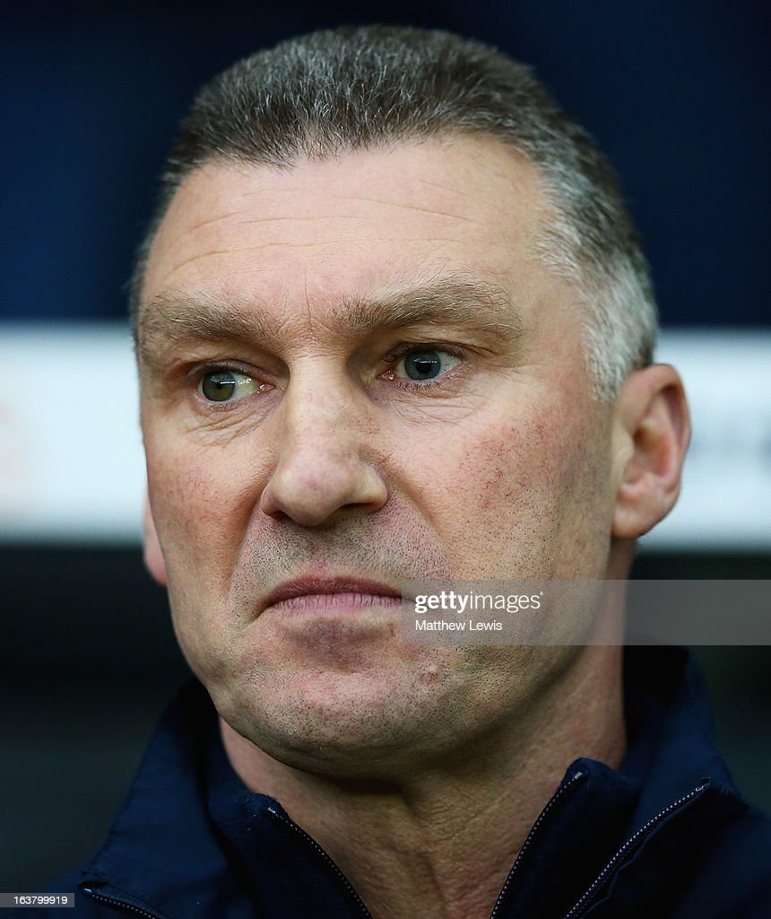 <a gi-track='captionPersonalityLinkClicked' href=/galleries/search?phrase=Nigel+Pearson&family=editorial&specificpeople=2480378 ng-click='$event.stopPropagation()'>Nigel Pearson</a>, manager of Leicester City looks on during the npower Championship match between Derby County and Leicester City at Pride Park Stadium on March 16, 2013 in Derby, England.