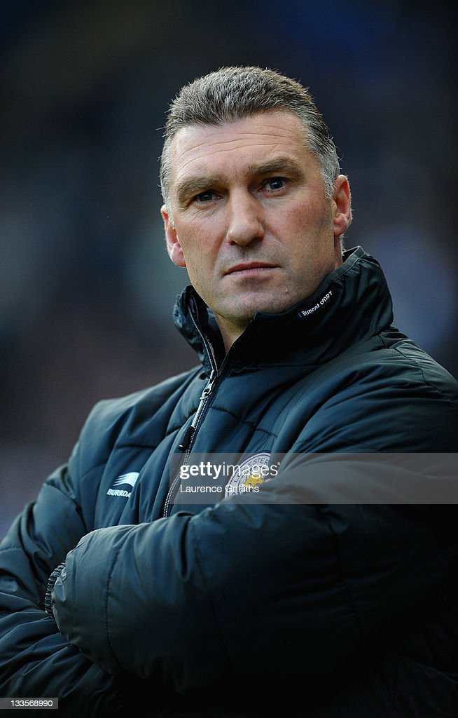 Nigel Pearson of Leicester City looks on during the npower Championship match between Leicester City and Crystal Palace at Walkers Stadium on November 20, 2011 in Leicester, England.