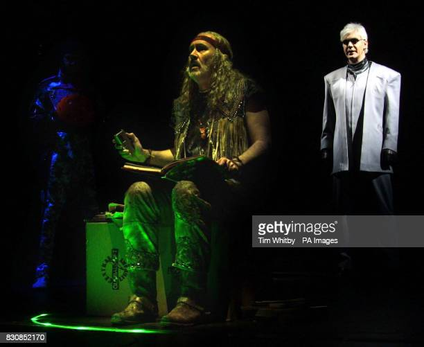 Nigel Planer who plays Pop being interrogated by Khashoggi in the new musical 'We Will Rock You' at the Dominion Theatre in London The play opens on...