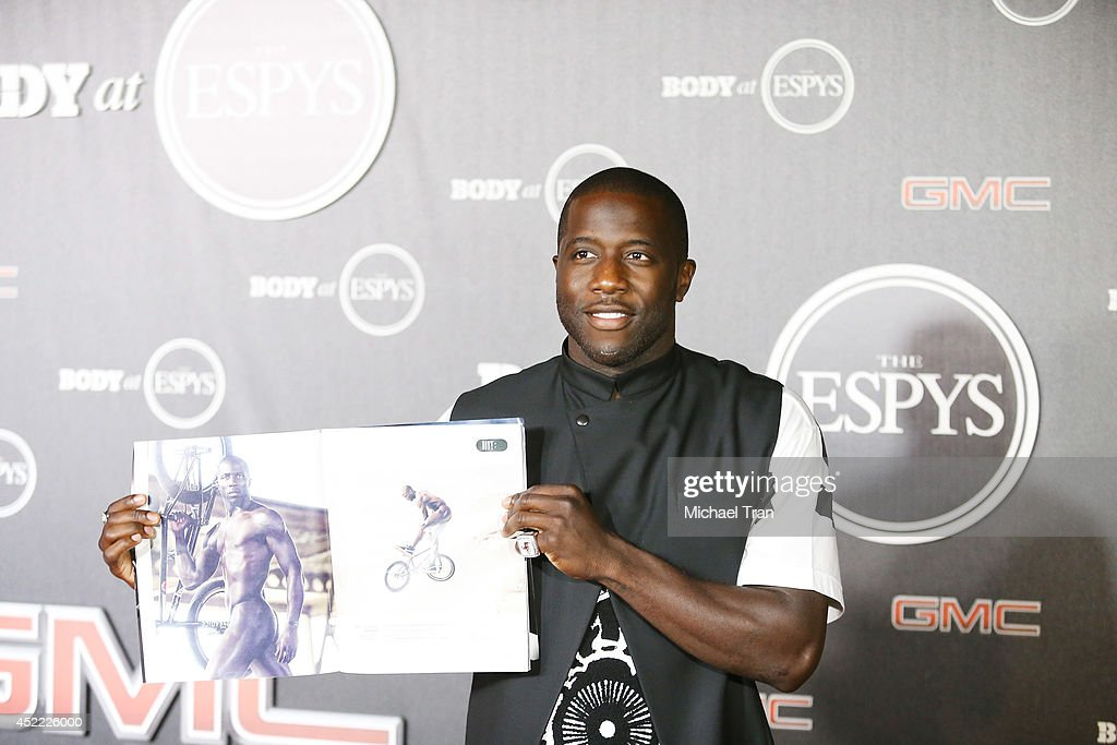 Nigel Sylvester arrives at the BODY at ESPYS Pre-Party held at Lure on July 15, 2014 in Hollywood, California.