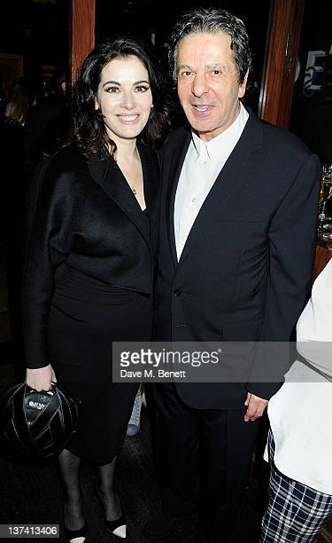 Nigella Lawson and Charles Saatchi attend a dinner hosted by Joseph Group CEO Sara Ferrero and Vogue UK editoratlarge Fiona Golfar at Joe's...