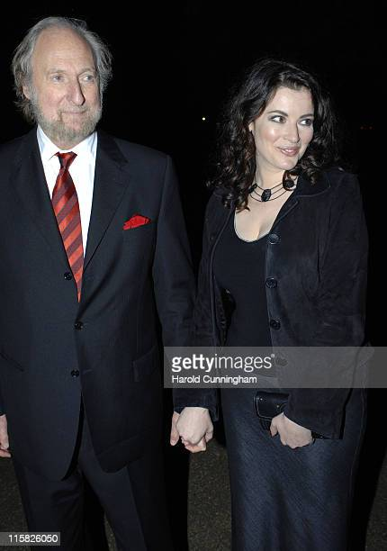 Nigella Lawson and guest during Vogue and Motorola Celebrate the Magazine's 90th Anniversary Arrivals at The Serpentine Gallery in London Great...