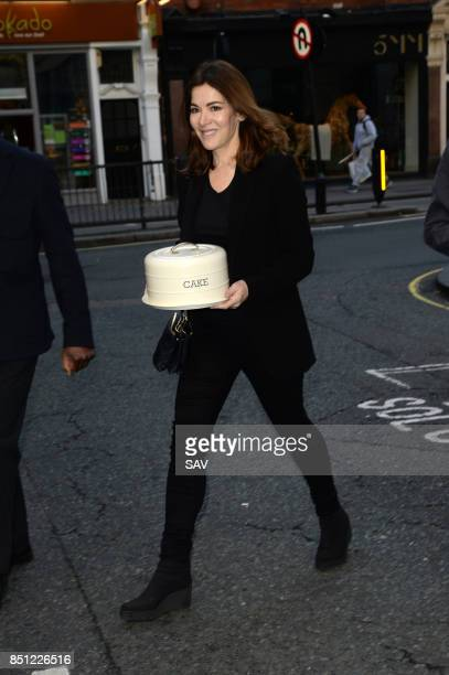 Nigella Lawson arrives at BBC Radio 2 to appear on Chris Evans Breakfast Show on September 22 2017 in London England