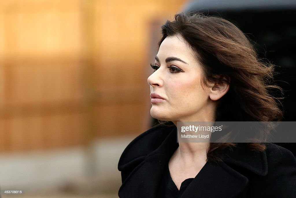Nigella Lawson arrives at Isleworth Crown Court on December 5, 2013 in Isleworth, England. Italian sisters Francesca and Elisabetta Grillo, who worked as assistants to Nigella Lawson and Charles Saatchi, are accused of defrauding them of over 300,000 GBP.