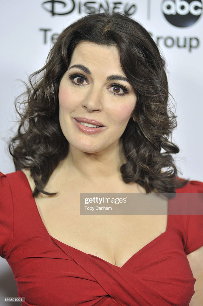 Nigella Lawson arrives for the Disney ABC '2013 WInter TCA Tour' event at The Langham Huntington Hotel and Spa on January 10, 2013 in Pasadena, California.