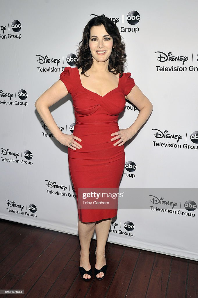 Nigella Lawson arrives for the Disney ABC Television groups '2013 Winter TCA Tour' event at The Langham Huntington Hotel and Spa on January 10, 2013 in Pasadena, California.