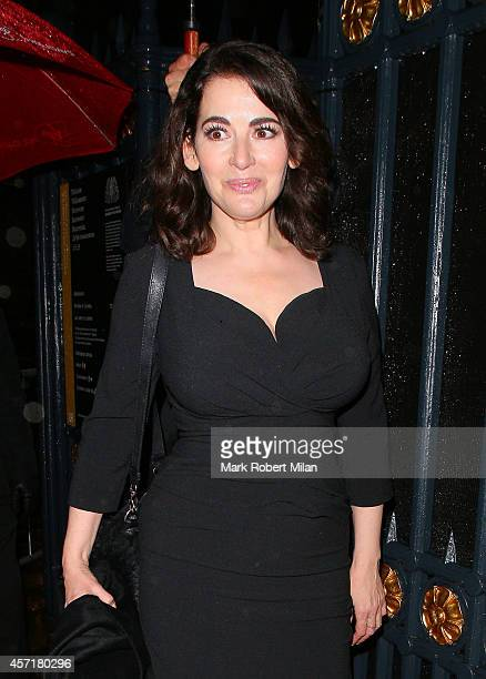 Nigella Lawson at the Attitude Magazine awards party on October 13 2014 in London England
