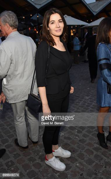Nigella Lawson attends British Vogue editor Alexandra Shulman's leaving party at Dock Kitchen on June 22 2017 in London England