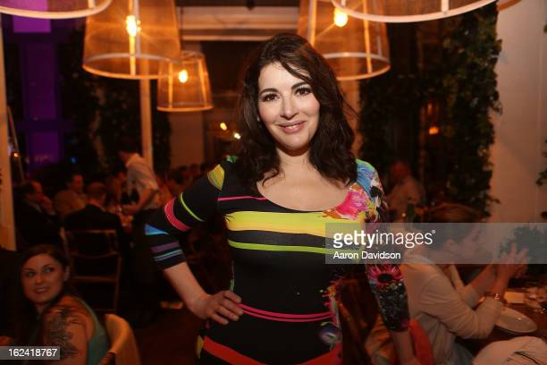 Nigella Lawson attends Nigellissima Dinner at W South Beach Hotel Residences on February 22 2013 in Miami Beach Florida