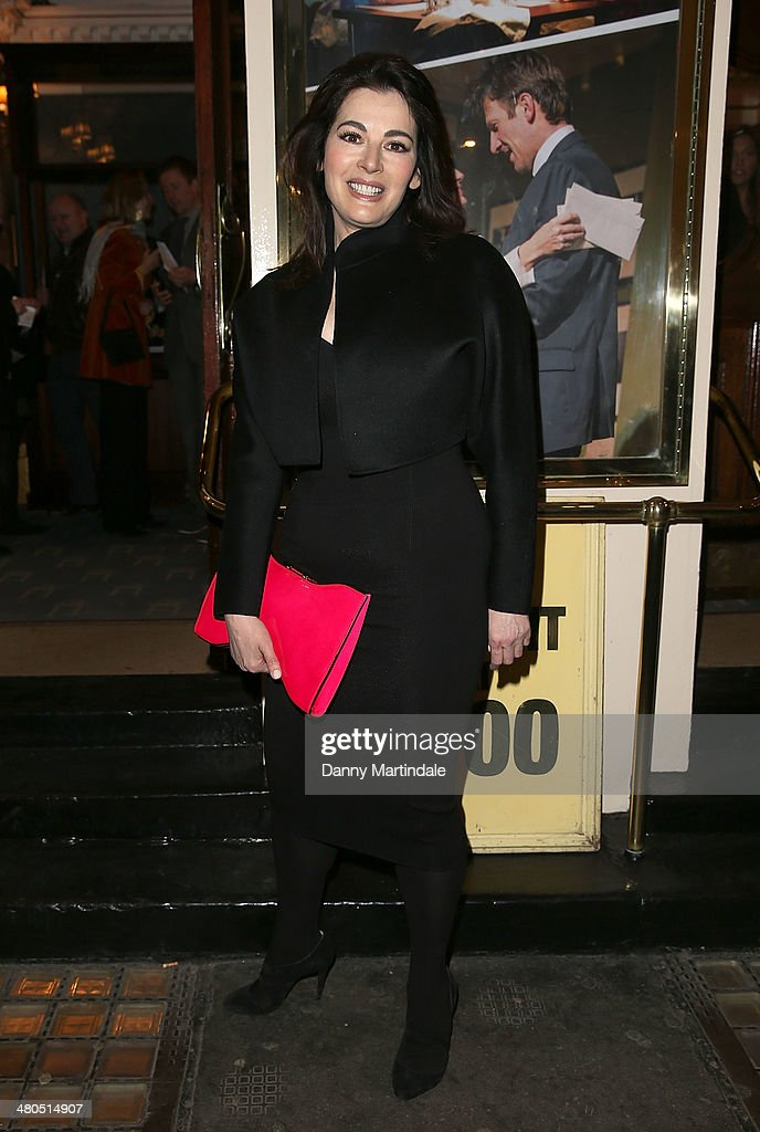 <a gi-track='captionPersonalityLinkClicked' href=/galleries/search?phrase=Nigella+Lawson&family=editorial&specificpeople=209173 ng-click='$event.stopPropagation()'>Nigella Lawson</a> attends the press night of 'Fatal Attraction' at Theatre Royal on March 25, 2014 in London, England.