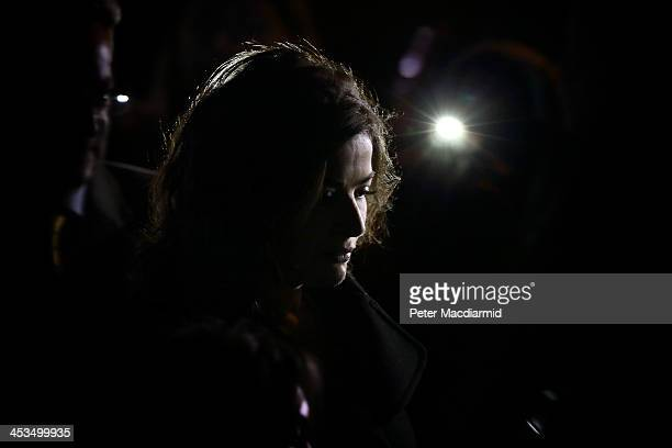 Nigella Lawson leaves Isleworth Crown Court after giving evidence on December 4 2013 in Isleworth England Italian sisters Francesca and Elisabetta...