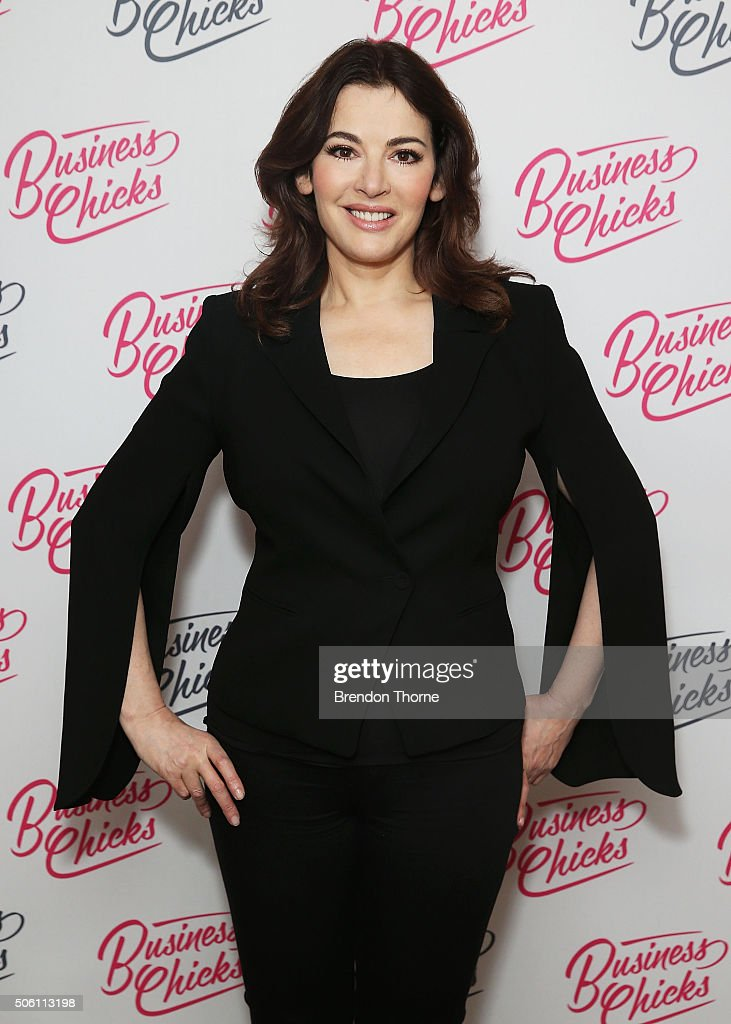 <a gi-track='captionPersonalityLinkClicked' href=/galleries/search?phrase=Nigella+Lawson&family=editorial&specificpeople=209173 ng-click='$event.stopPropagation()'>Nigella Lawson</a> poses during a Business Chicks function at Westin Hotel on January 22, 2016 in Sydney, Australia.