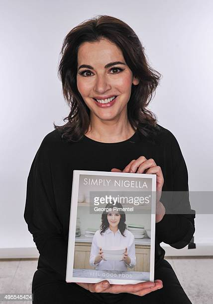 Nigella Lawson signs copies of her new book 'Simply Nigella' at Indigo Manulife Centre on November 3 2015 in Toronto Canada