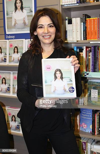 Nigella Lawson signs copies of her new book 'Simply Nigella' on December 5 2015 in Dublin Ireland