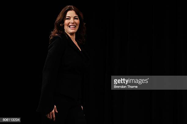 Nigella Lawson speaks during a Business Chicks function at Westin Hotel on January 22 2016 in Sydney Australia