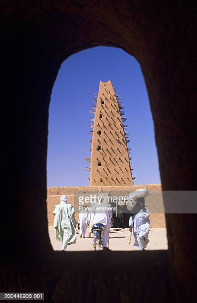 Niger, Agadez, people going to Mosque on Friday