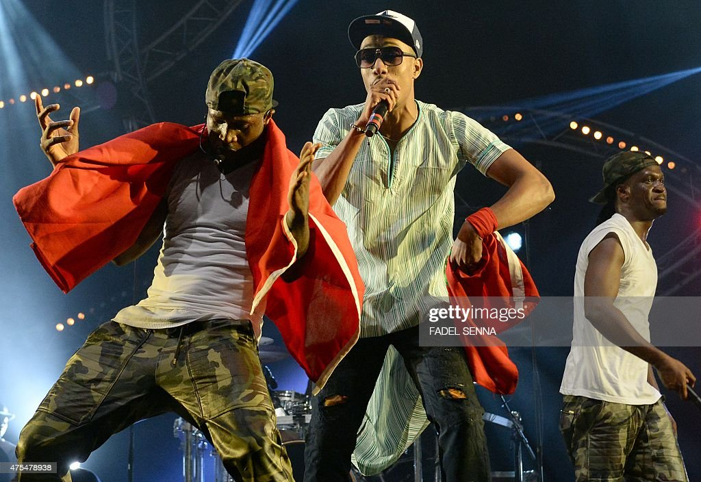 nigeria group p square and moroccan group barbe a papa perform during pictures getty images. Black Bedroom Furniture Sets. Home Design Ideas