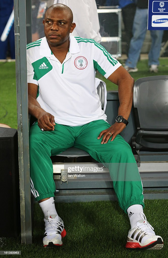 Nigeria Manager, Stephen Keshi looks on prior to the 2013 Africa Cup of Nations Final match between Nigeria and Burkina at FNB Stadium on February 10, 2013 in Johannesburg, South Africa.