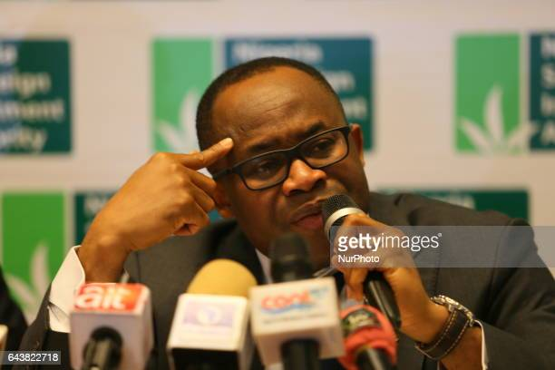 Nigeria Sovereign Investment Authority Managing Director Uche Orji presents Q3 2016 performance report in Abuja Nigeria on February 22 2017 The...