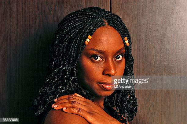 Nigerian author Chimamanda Ngozi Adichie poses while in Paris to promote her book in ParisFrance on the 21st of September 2004