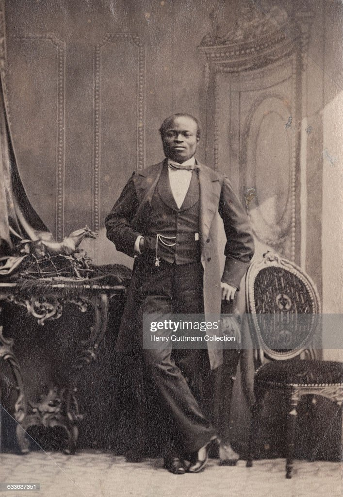 Nigerian merchant sailor, businessman and philanthropist James Pinson Labulo Davies (1828 - 1906), London, 15th September 1862. He was married to former slave and later god-daughter of Queen Victoria, Sara Forbes Bonetta.