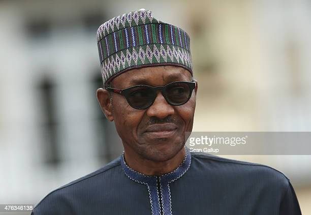 Nigerian President Muhammadu Buhari attends the second day of the summit of G7 nations at Schloss Elmau on June 8 2015 near GarmischPartenkirchen...