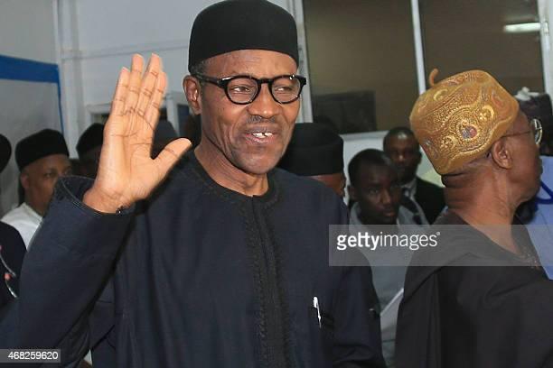 Nigerian presidentelect Muhammadu Buhari waves in Abuja on April 1 2015 Nigeria's new presidentelect Muhammadu Buhari hailed polls that will lead to...