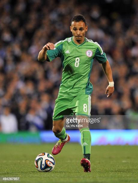 Nigerian striker Peter Odemwingie controls the ball during the international friendly football match between Nigeria and Scotland at Craven Cottage...