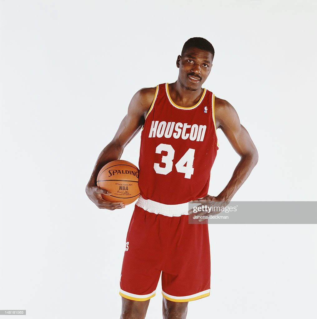 Nigerian-American basketball player Hakeem Olajuwon, Houston, 2001.