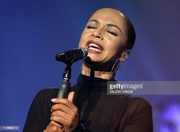 NigerianBritish singer Sade performs on stage in Nice southeastern France on April 29 2011 Sade of 'Smooth Operator' fame in the mid80s is back after...