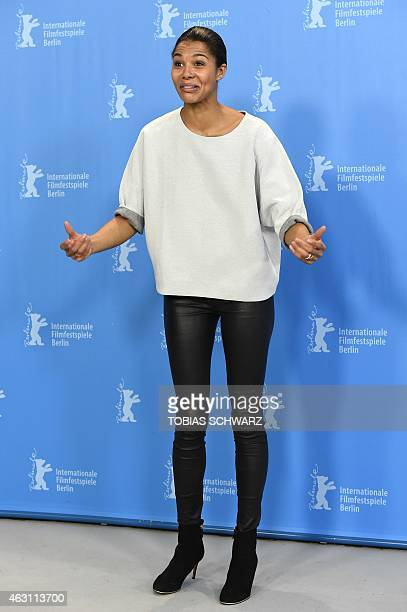 NigerianGerman singer and actress Ayo poses for photographers at the photocall of the film 'Meutre a Pacot' presented in the Panorama section during...