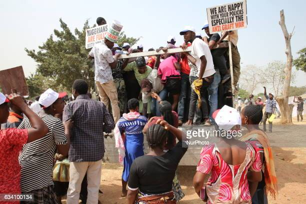 Nigerians protest against President Muhammadu Buhari's economic Policies in Abuja Nigeria's capital on February 6 2017