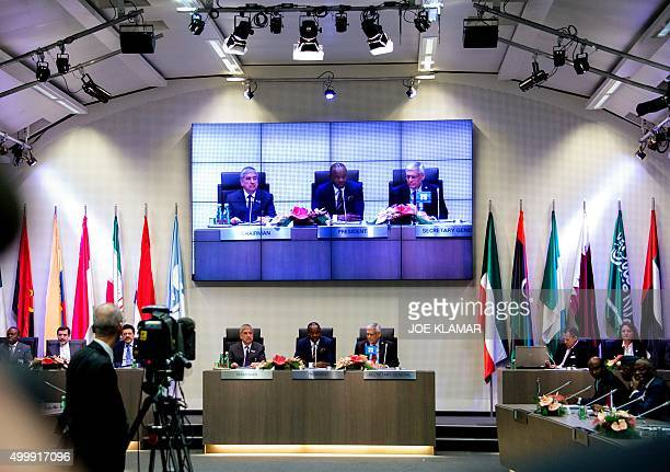Nigeria's Minister of State for Petroleum Resources and President of the OPEC Conference Emmanuel Ibe Kachikwu leads the 168th Ordinary meeting of...