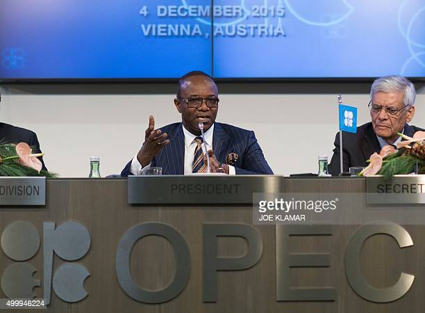 Nigeria's Minister of State for Petroleum Resources and President of the OPEC Conference Emmanuel Ibe Kachikwu and OPEC's Secretary General Abdalla...