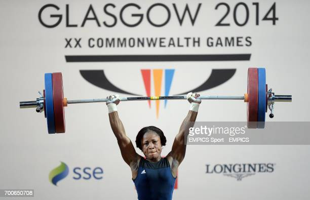 Nigeria's Ndidi Winifred lifts in the Women's 58kg Weightlifting category