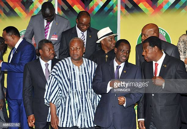 Niger's president Mahamadou Issoufou Togo's president Faure Gnassingbe Ghana's president and Economic Community of West Africa States president John...