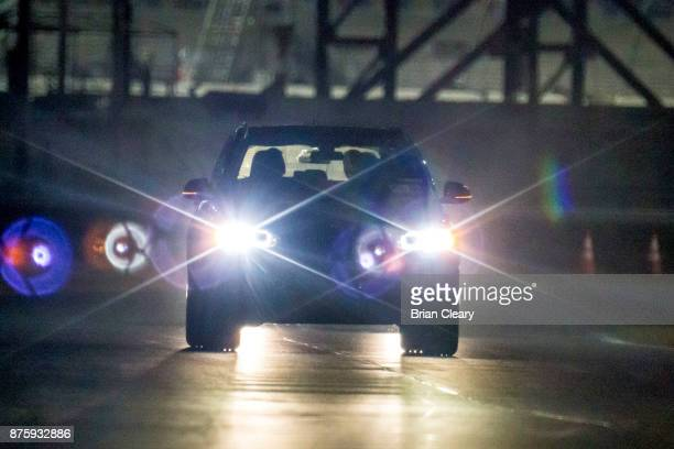 Night action during the Classic 24 at Daytona Historic Sportscar Race at Daytona International Speedway on November 11 2017 in Daytona Beach FL