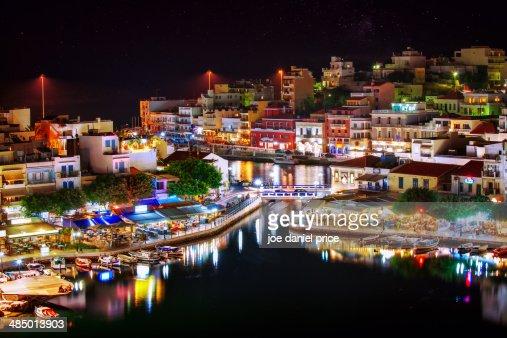 Night at Agios Nikolaos, Crete, Greece