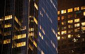 Night Building Perspective, Los Angeles, California.