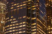 Night Building Perspective, Los Angeles California.