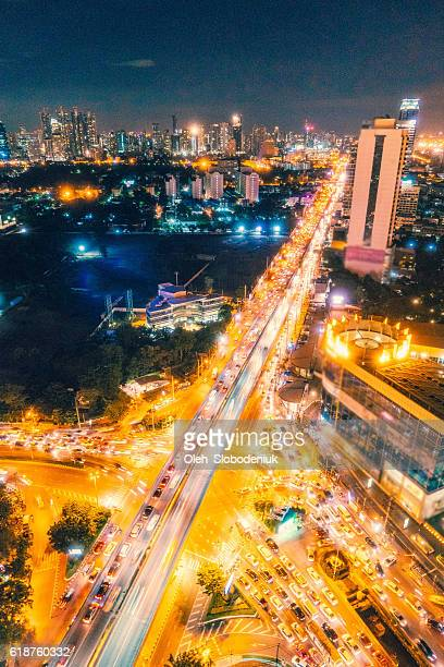 Night cityscape of Bangkok