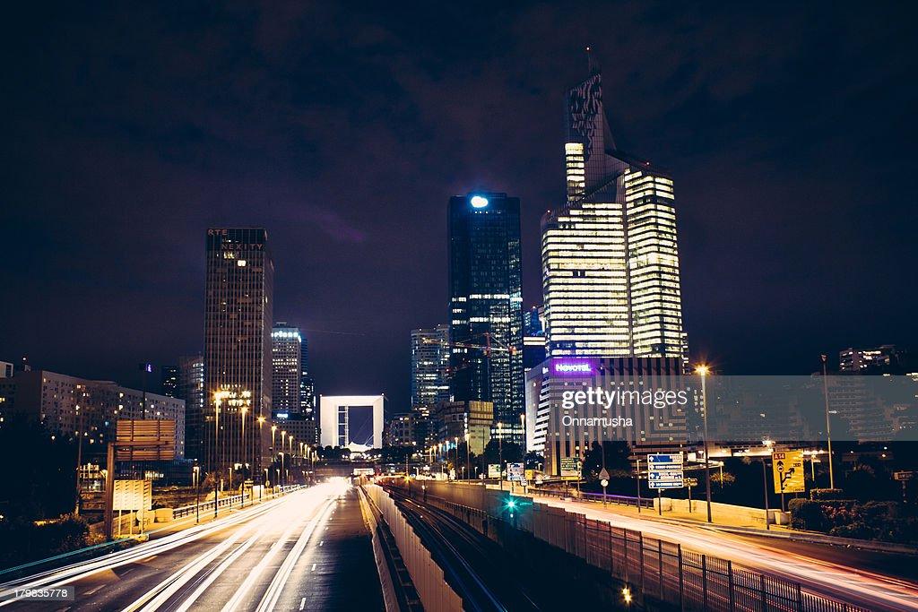 Night cityscape of Paris